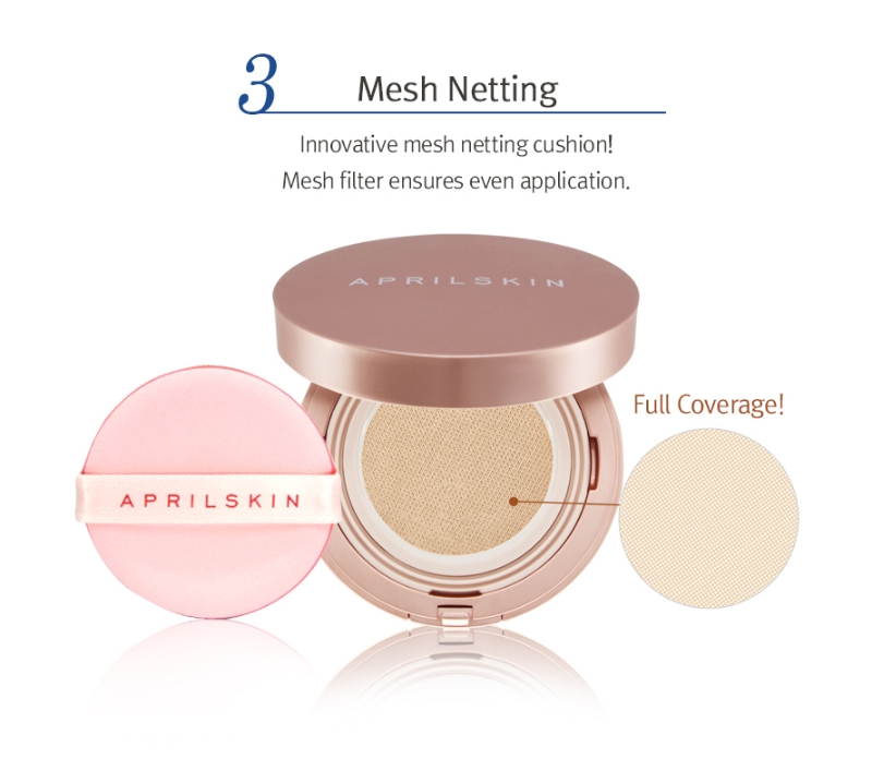 AprilSkin Magic Snow Fixing Foundation Instantly Flawless & Glowing Skin, Toxin Free 3 different Tones Are Available