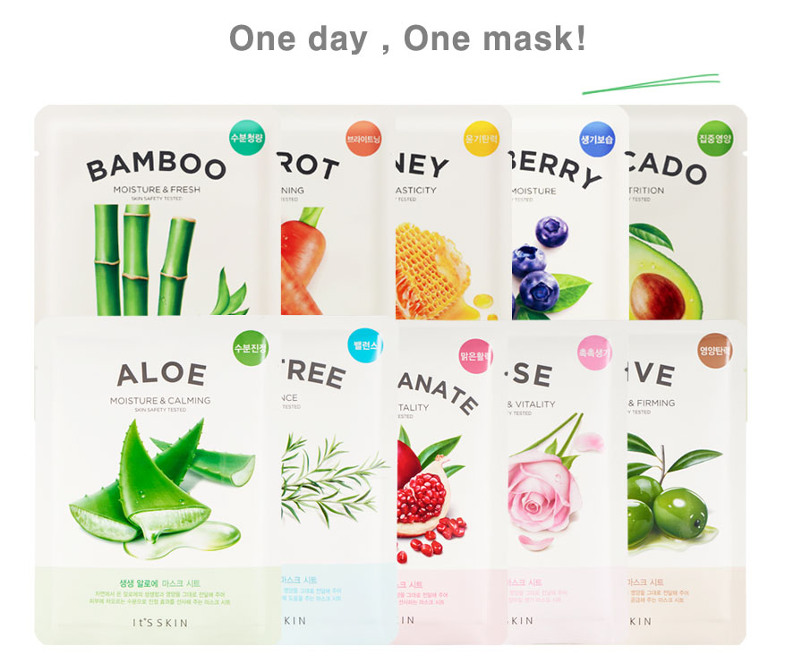 [It's Skin] The Fresh Mask Sheet With 10 Variants