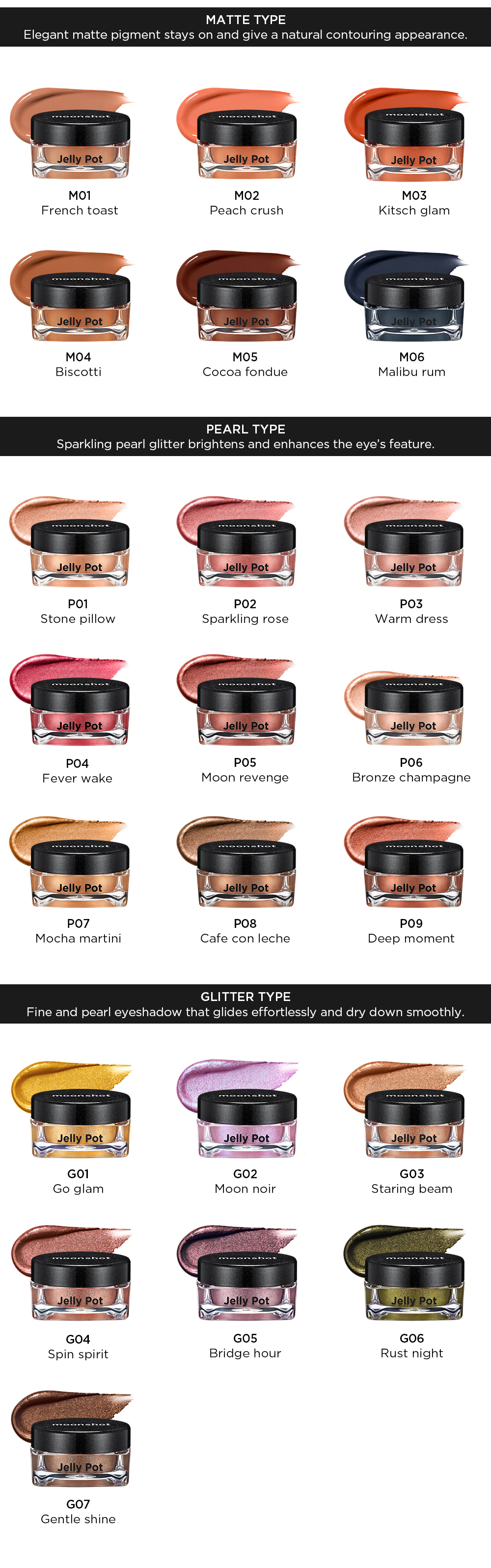 [Moonshot] Jelly Pot Self Healing Polymer Technology,  Water Base Colling, Sophisticated Contouring Makeup Effect